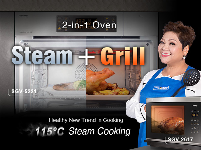 2-in-1 Steam & Grill