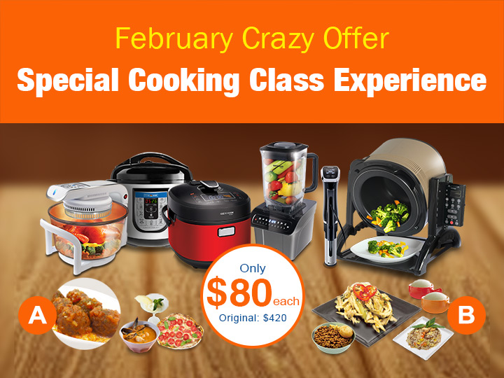 February Crazy Offer: Special Cooking Class for Only $80 & Red Envelopes